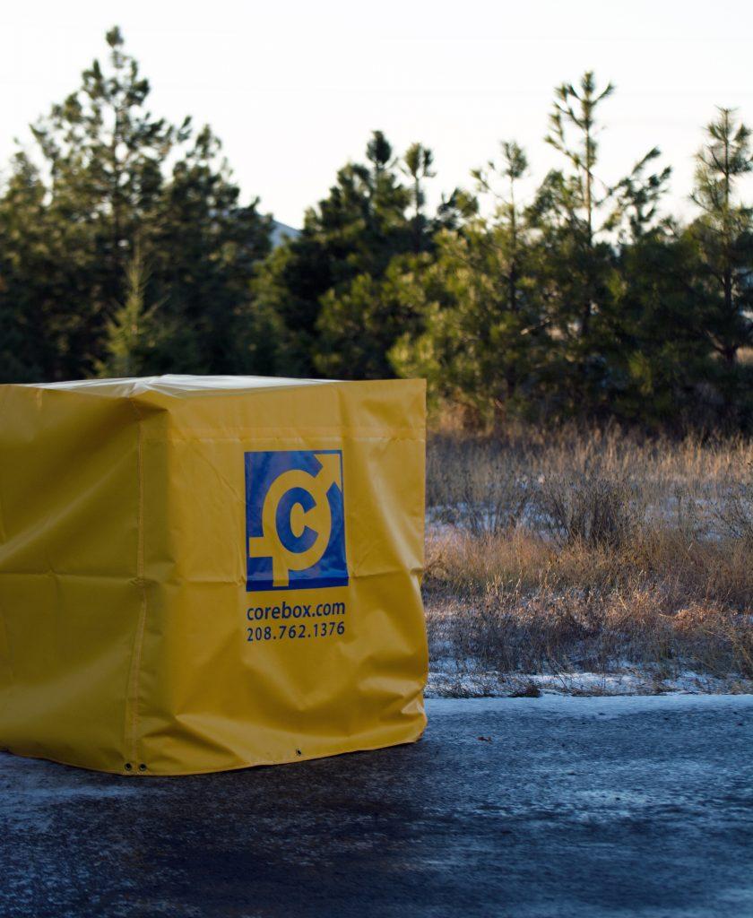 Yellow corebox cover.